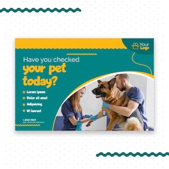 Veterinary banner template