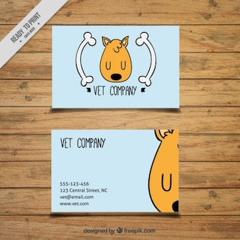 Veterinary card of nice dog drawing