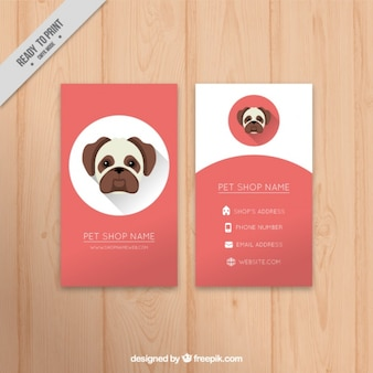Veterinary card with nice puppy