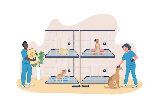 Veterinary care for dogs 2d web banner poster