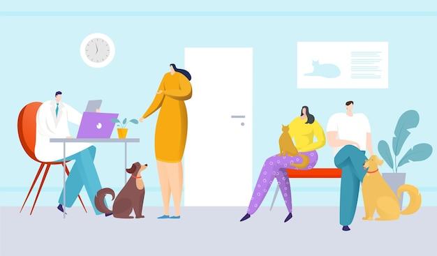 애완 동물에 대한 동물 병원 의사 관리