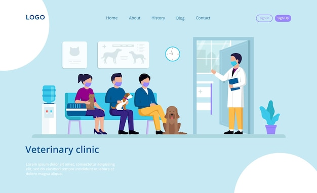 Veterinary clinic landing page
