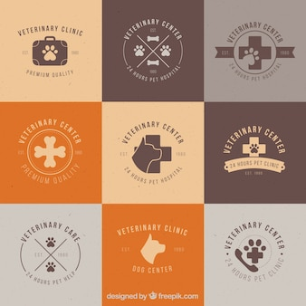 Veterinary clinic logos