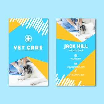 Veterinary double-sided business card