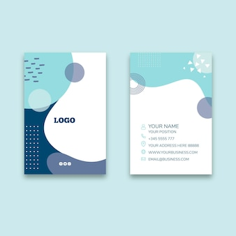 Veterinary double-sided vertical business card