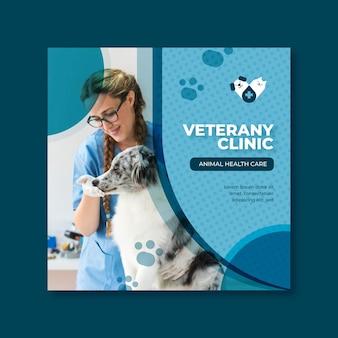 Tema del modello di volantino veterinario