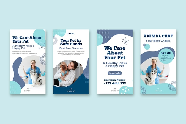 Raccolta di storie instagram veterinarie