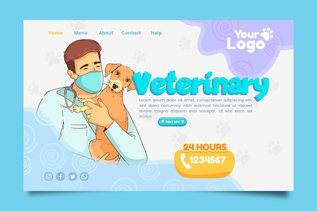 Veterinary landing page template