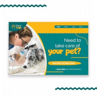 Pagina di destinazione veterinaria