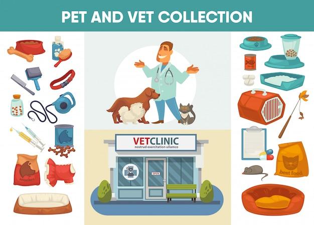 獣医病院、診療所またはペットショップ Premiumベクター