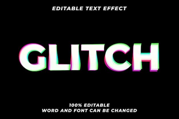 Глитч vhs стиль текста эффект премиум