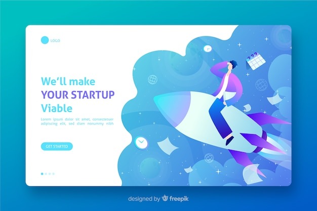 Viable startup landing page template