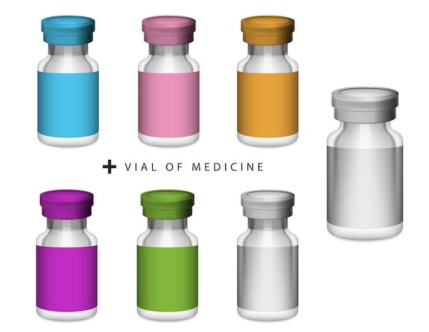 Vial of medicine, glass bottle and aluminium filp off cap