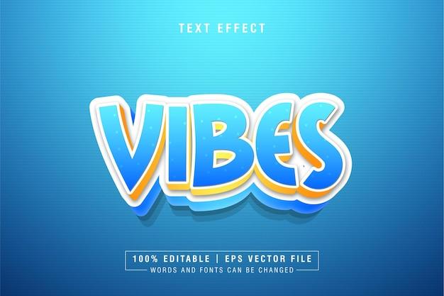Vibes 편집 가능한 텍스트 스타일 효과