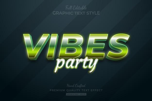 Vibes gradient green editable premium text effect