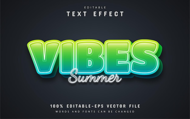 Vibes text, cartoon style text effect