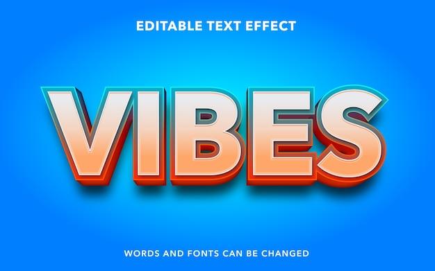 Стиль текста редактируемый текстовый эффект vibes
