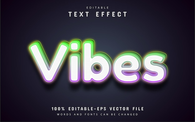 Vibes text effect editable