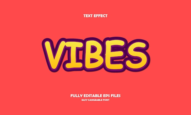 Vibes text effect