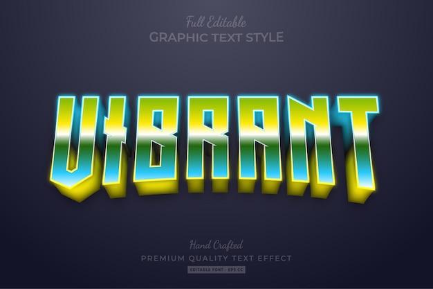 Яркий редактируемый текстовый эффект с градиентом 80-х