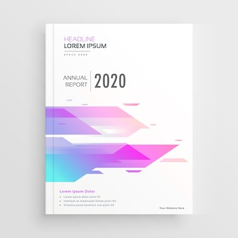 Vibrant abstract shape company business brochure design template