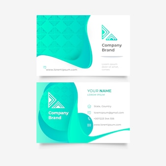 Vibrant abstract template for business card