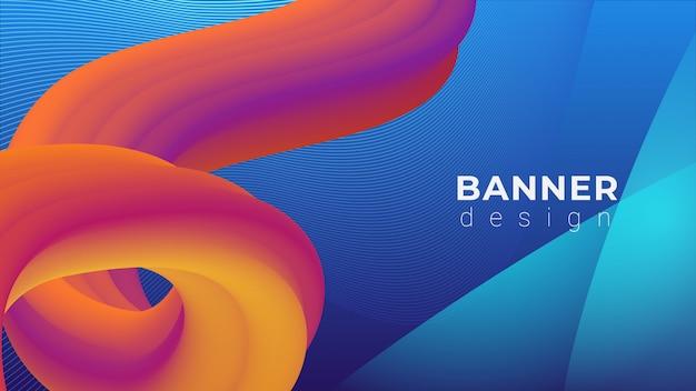 Динамический vibrant banner fluid loop background