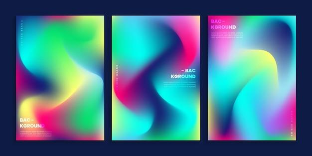 Vibrant blurred cover background set