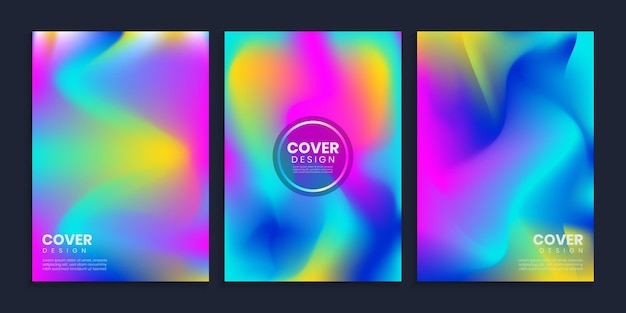 Vibrant blurred gradient covers  template