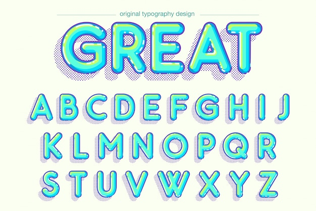 Vibrant bubble bold typography design