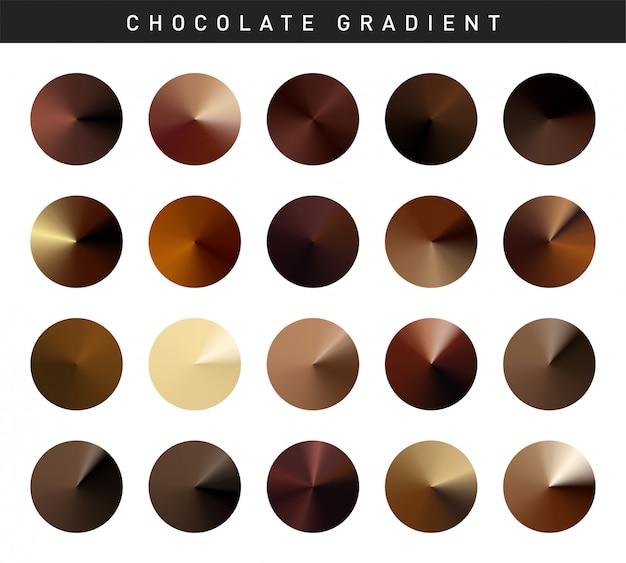 Vibrant chocolate gradients swatches set free