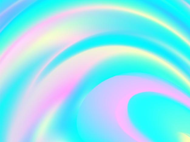 鮮やかな色。ホログラム流体の背景。カラフルなデザイン。未来のポスター。鮮やかなリキッドカラー。トレンディな色。カラフルなグラデーション。インク液。