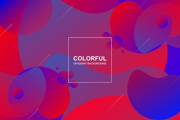 Vibrant colorful gradient shapes background