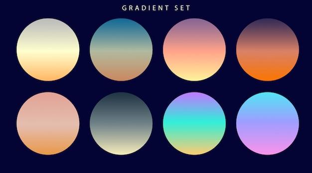 Vibrant colorful gradients swatches set