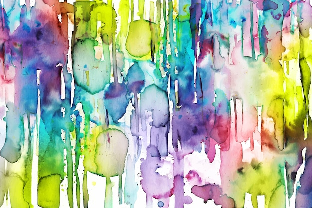 Vibrant colorful hand painted background