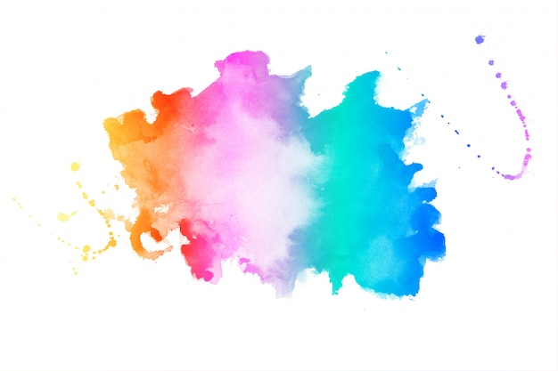 Vibrant colors watercolor stain texture background