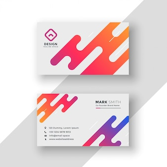 Vibrant creative business card modern template