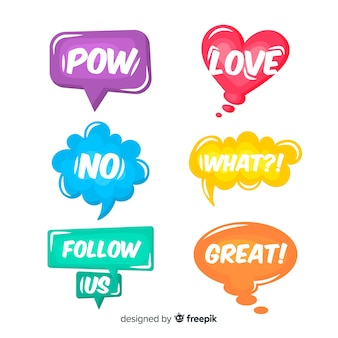 Vibrant diversity speech bubbles