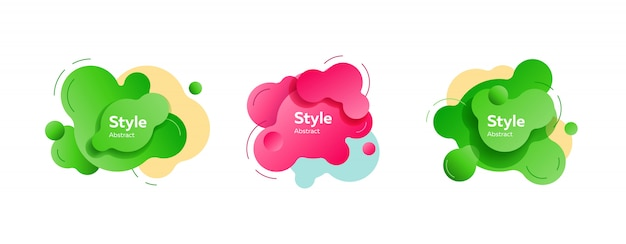 Vibrant dynamic fluid shapes banner