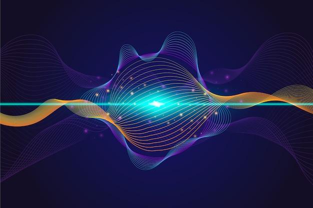 Vibrant equalizer wave background
