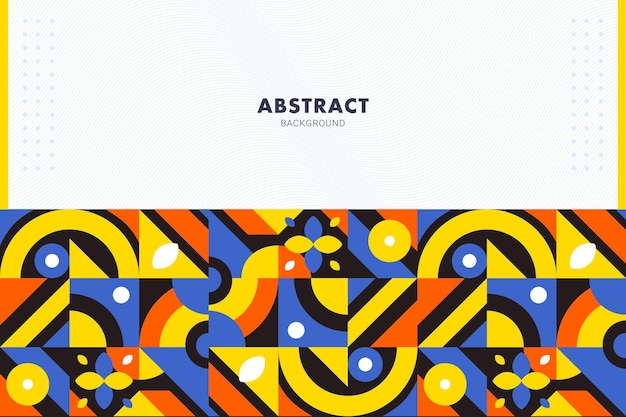 Vibrant flat geometric mosaic abstract background for brochure flyer banner template
