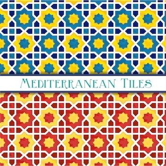鮮やかな幾何学的な地中海パターン