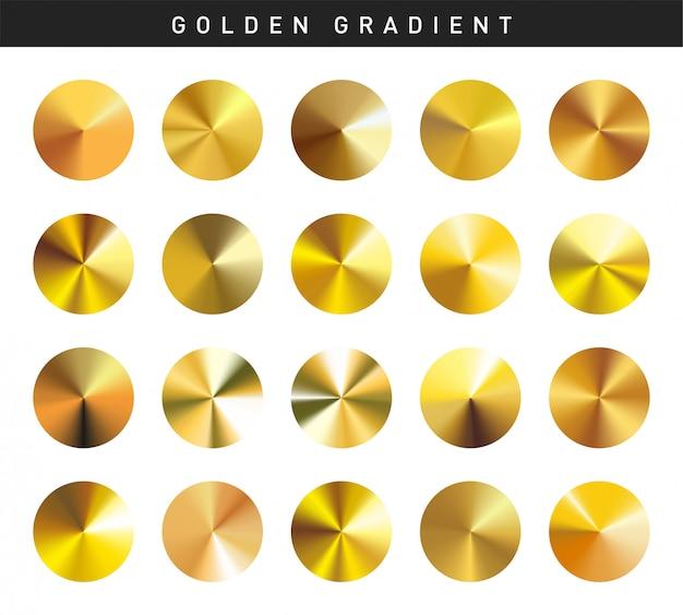 Vibrant golden gradients swatches set free