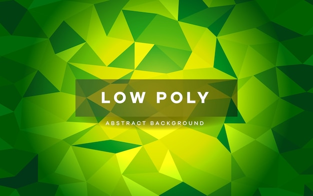 Vibrant green low poly abstract banner