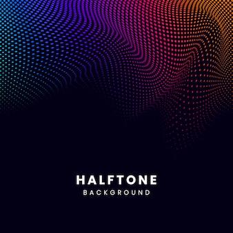 Vibrant halftone on black background vector