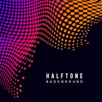 Vibrant halftone on black background