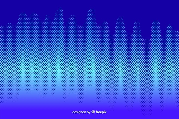 Vibrant halftone effect background