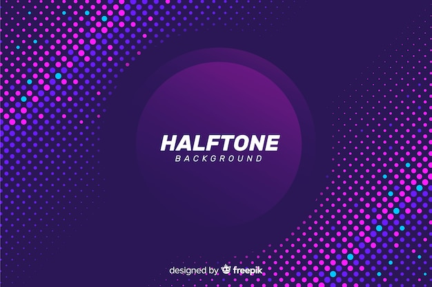 Vibrant halftone effect color background design