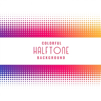 Vibrant halftone pattern design background