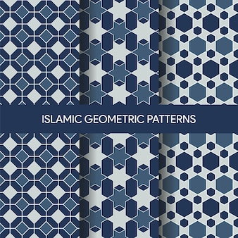 Vibrant islamic seamless patterns textures collection